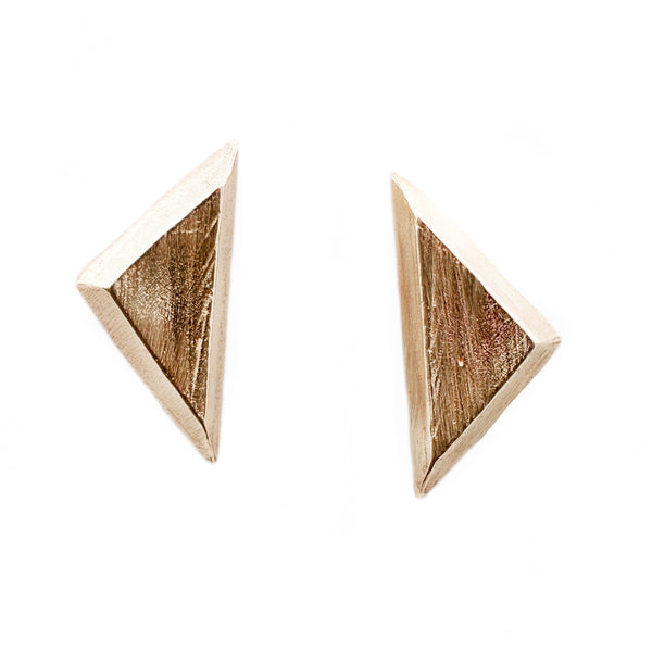 Adeline Gold Triangle Stud Earrings