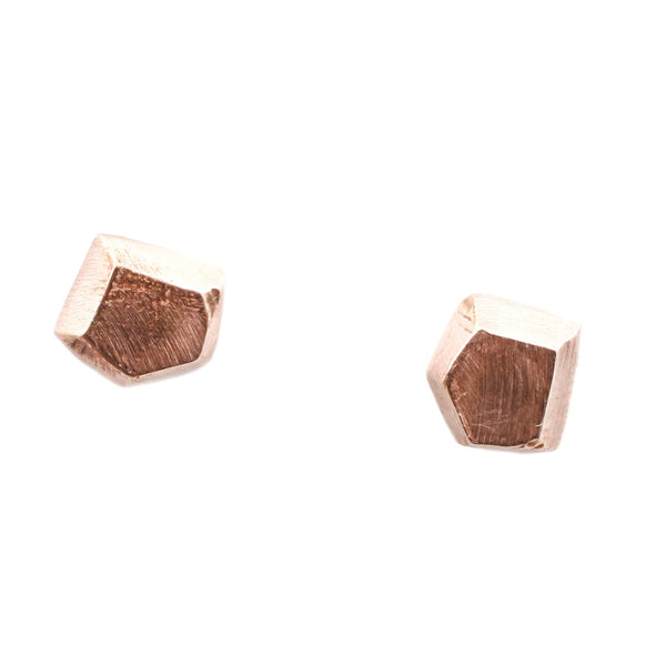 Adeline Rose Gold Geometric Stud Earrings