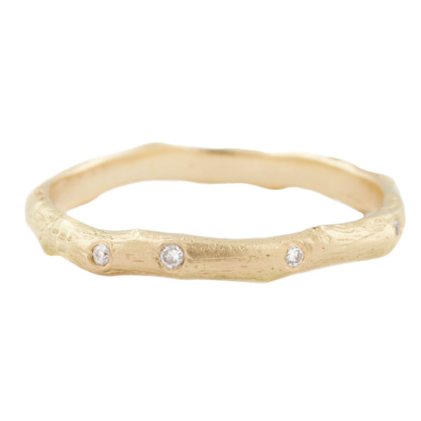 Sarah Swell Gold Vine Diamond Band