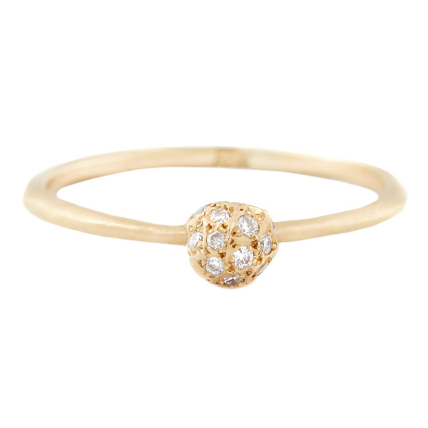SATOMI - Diamond Universe Ring - Yellow Gold With White Diamonds