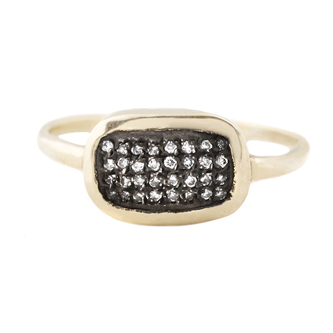 Diamond Grid Ring