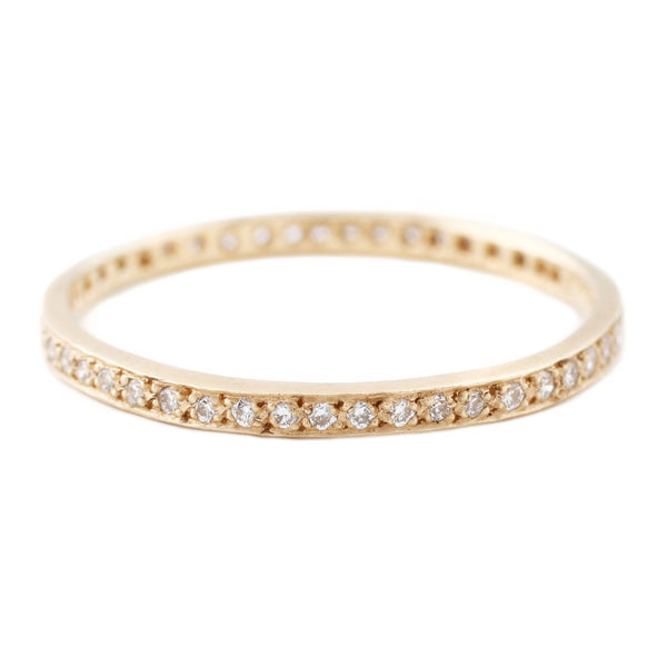Yellow Gold Eternity Band With White Diamonds - Satomi Kawakita