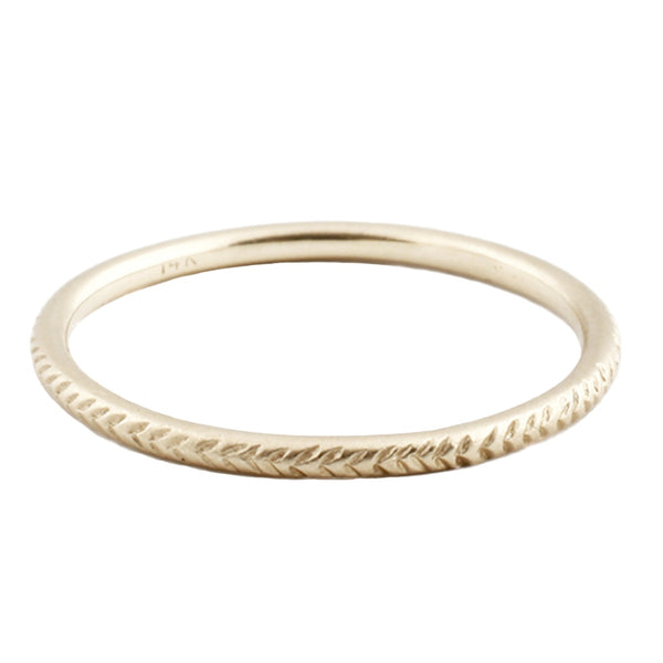Sarah Swell Gold Feather Band Ring