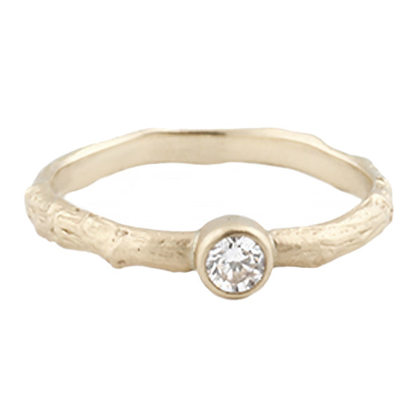 Sarah Swell Gold Vine Solitaire Ring