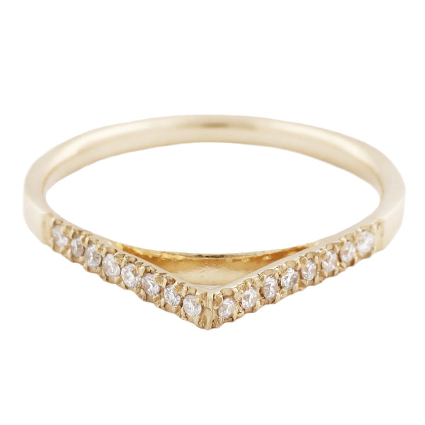 Top White Diamond Peak Ring
