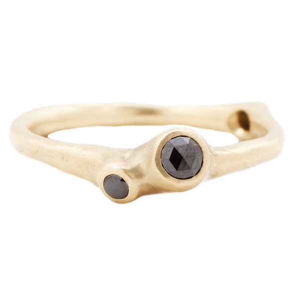 Johnny Ninos Black Diamond & Gold Barnacle Ring