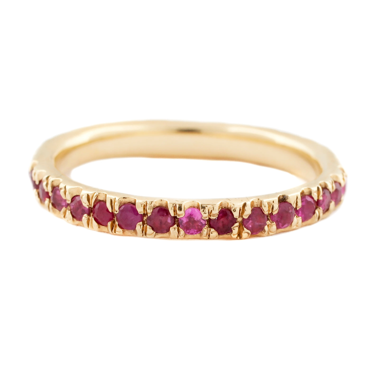 Lauren Wolf Jewelry Ruby Eternity Band in Yellow Gold