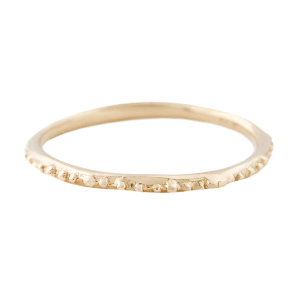 Gold Dot Textured Band