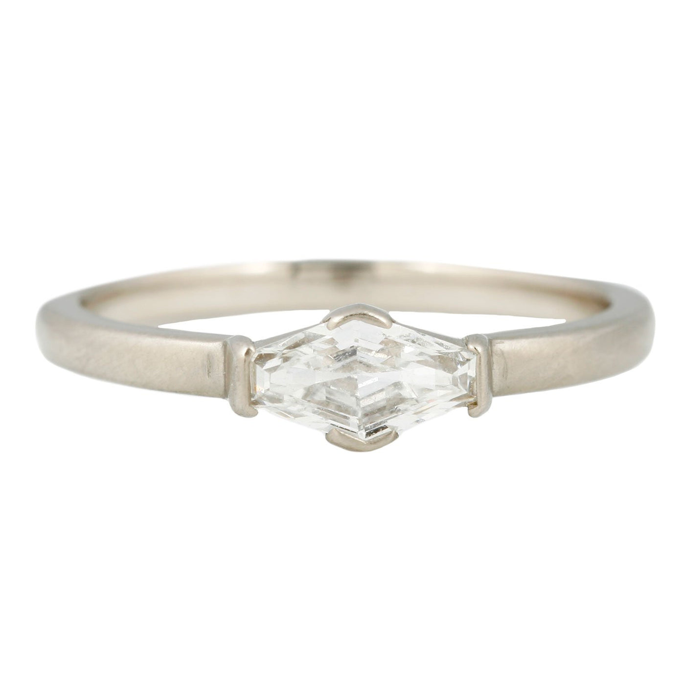 Rebecca Overmann Elongated Hexagon Diamond Solitaire