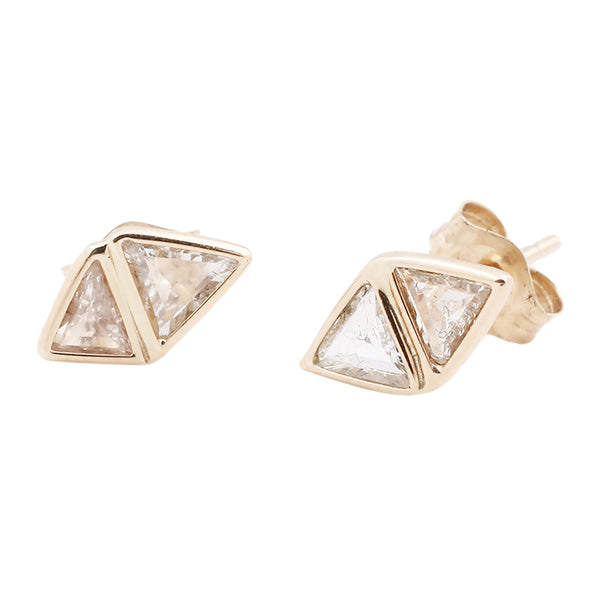 Double Love Diamond Studs