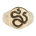 Maiden Voyage Yellow Gold Snake Seal Signet Ring