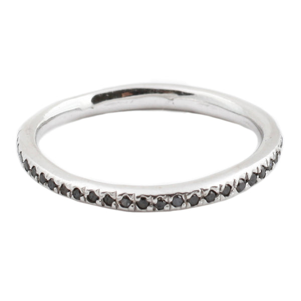 Lauren Wolf White Gold Black Diamond Eternity Band