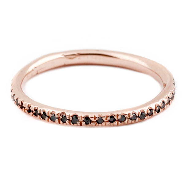 Lauren Wolf Rose Gold Black Diamond Eternity Band