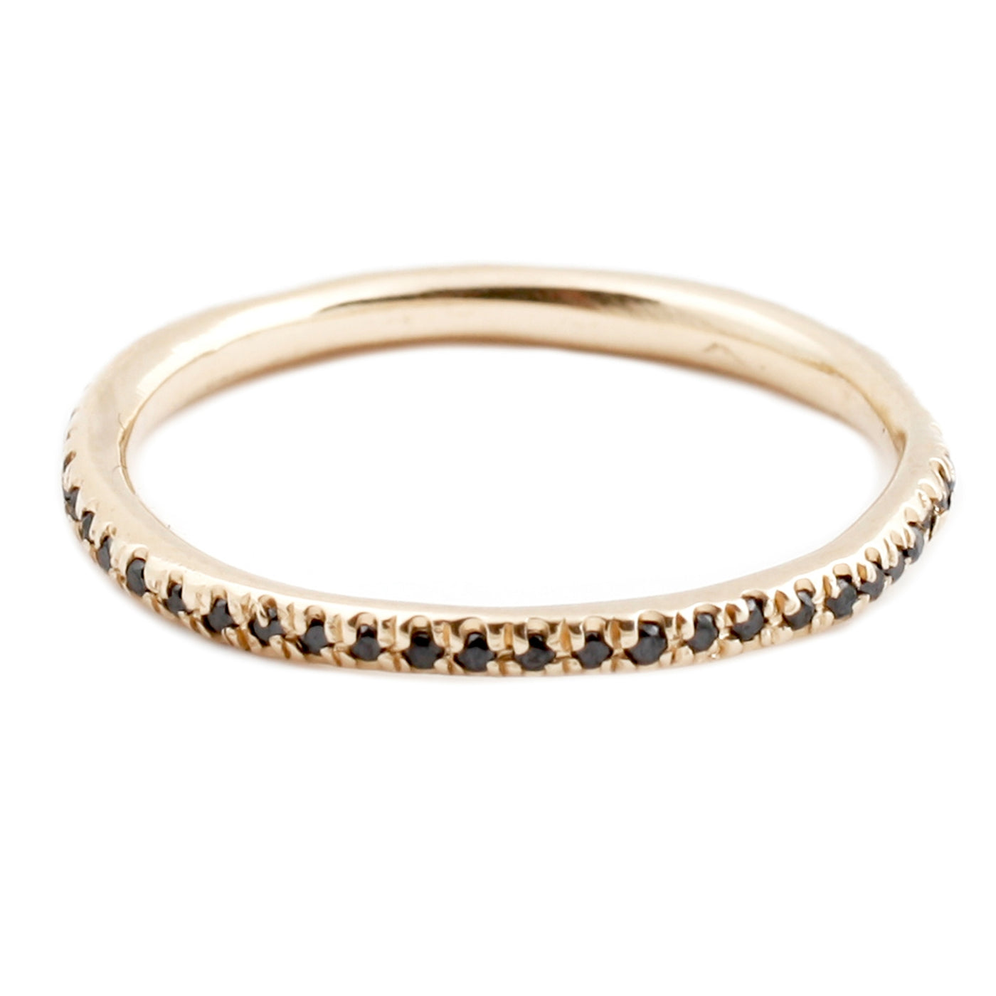Lauren Wolf Yellow Gold Black Diamond Eternity Band