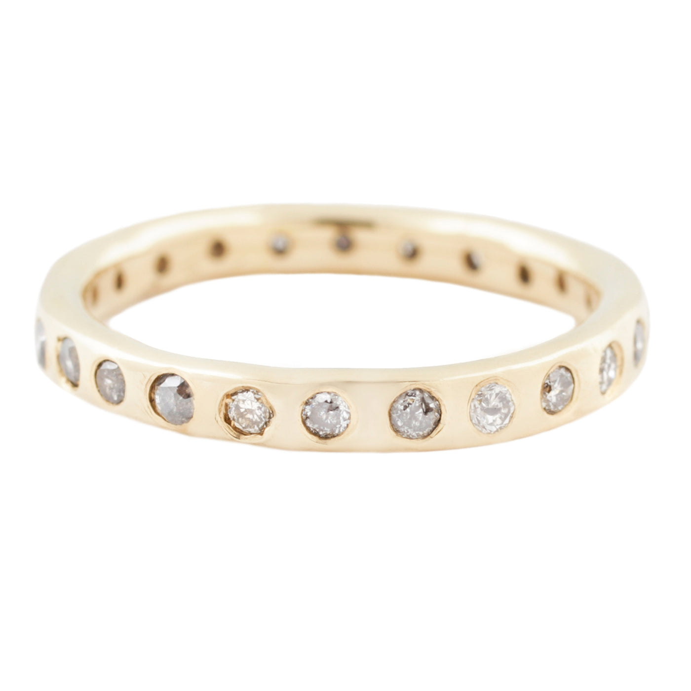 Lauren Wolf Jewelry Gray Diamond Eternity Band in Yellow Gold