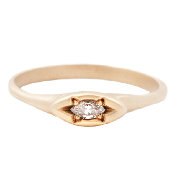 Rebecca Overmann Marquise Diamond Eye Ring in Yellow