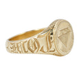 Maiden Voyage Yellow Gold Like a Diamond Signet Ring
