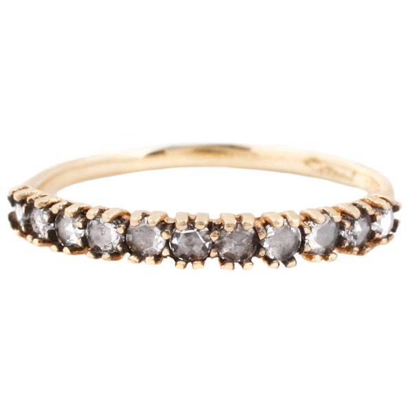 Half Eternity Antique-y Diamond Ring