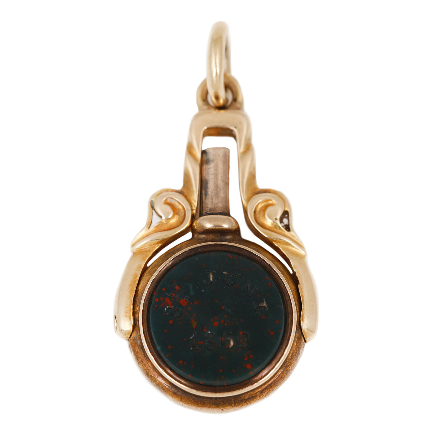 Bloodstone Dove Charm