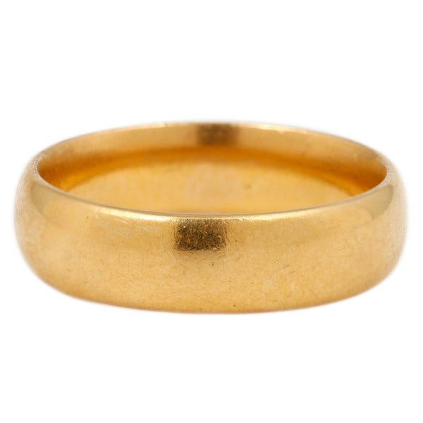 Wide 22k Gold Band