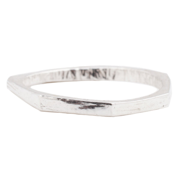 Adeline Sterling Silver Thin Geometric Stacking Ring