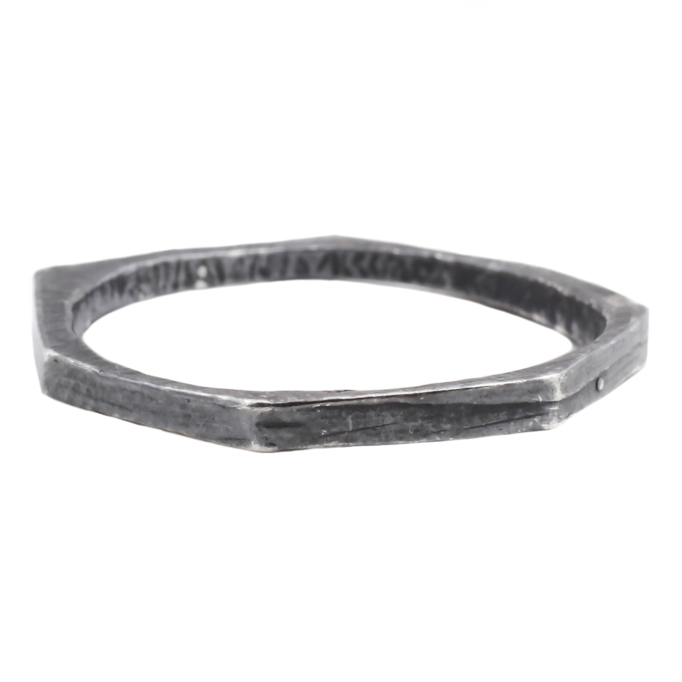 Adeline Oxidized Silver Thin Geometric Stacking Ring