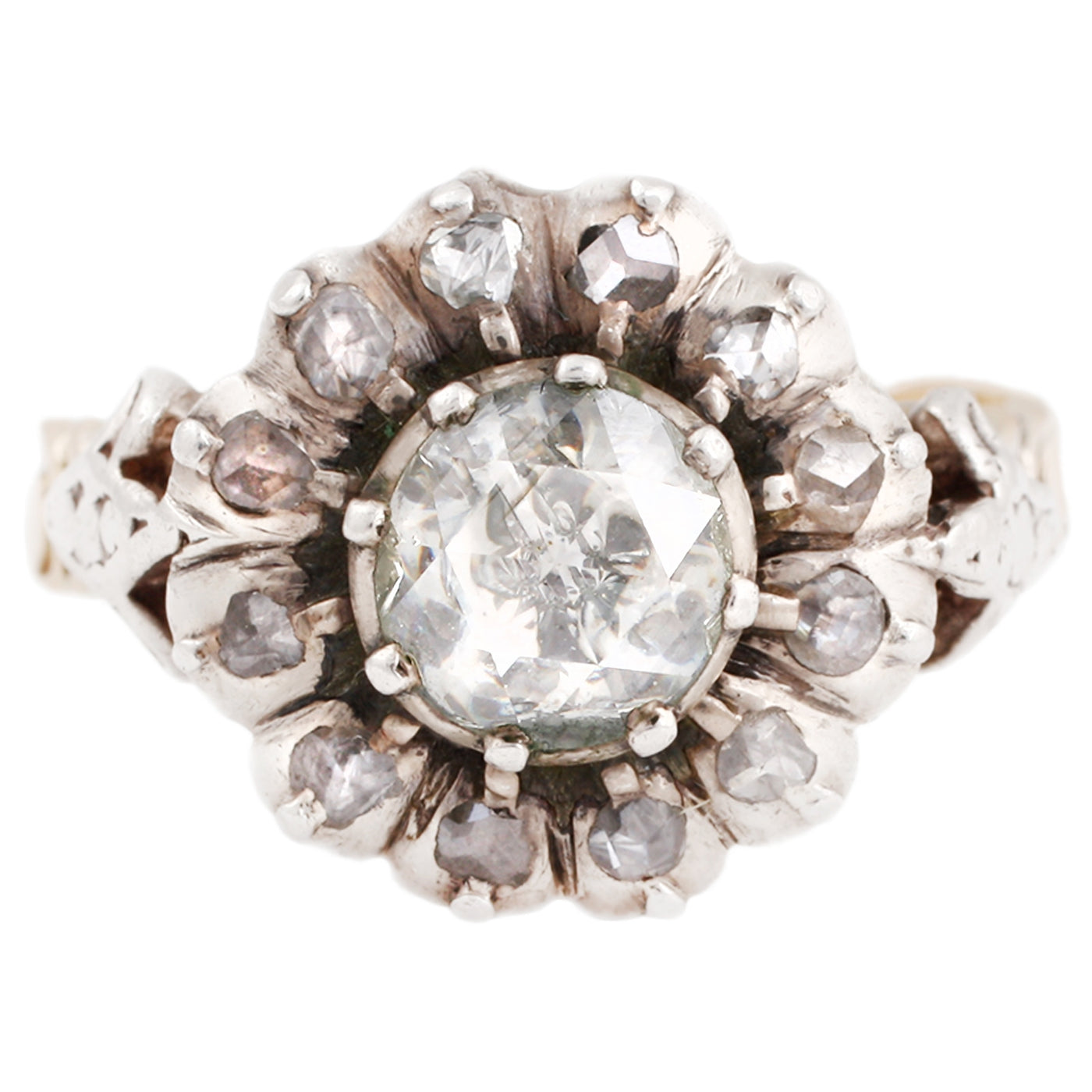 Georgian Cluster Flower Ring
