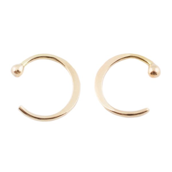 MELISSA JOY MANNING GOLD HUG EARRINGS