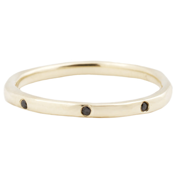 Lauren Wolf Jewelry Eight Black Diamond Band in Yellow Gold