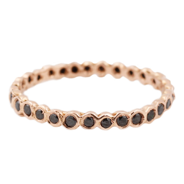 Satomi Kawakita Circle Black Diamond Eternity in Rose Gold