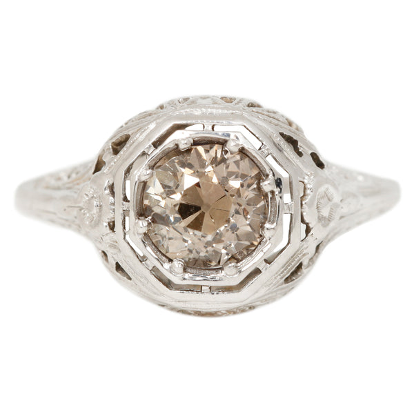 Vintage Cinnamon Diamond Ring