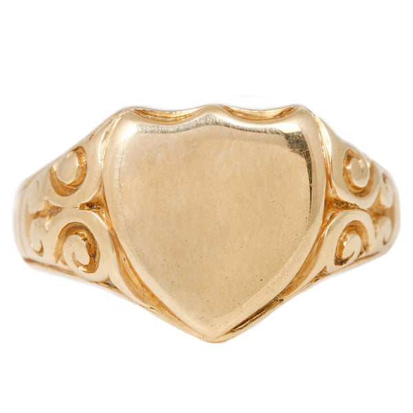Vintage Noble Signet Shield Ring