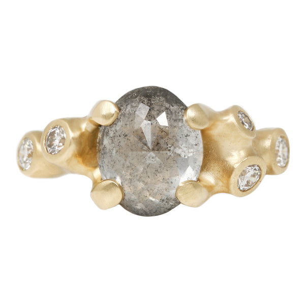Johnny Ninos Sea Salt Oval Diamond Ring