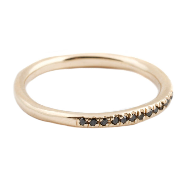 Lauren Wolf Yellow Gold Black Diamond Half Eternity Band