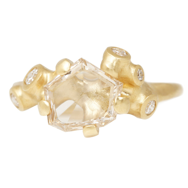 Johnny Ninos Geo Cut Diamond Cluster Ring