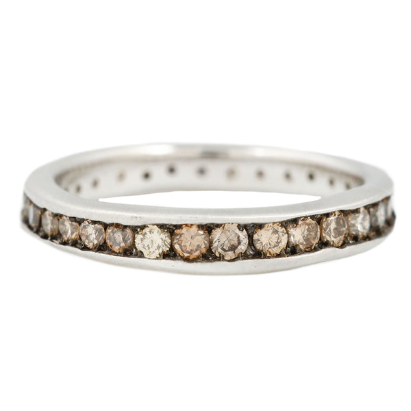Satomi Kawakita Platinum Absolute Brown Diamond Band
