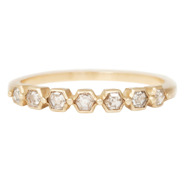 Rebecca Overmann Hexagon Diamond Bead Band
