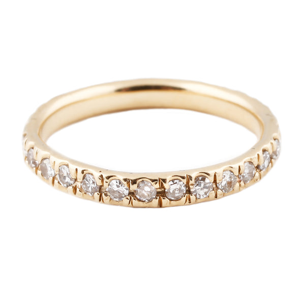 White Diamond Gold Eternity Band