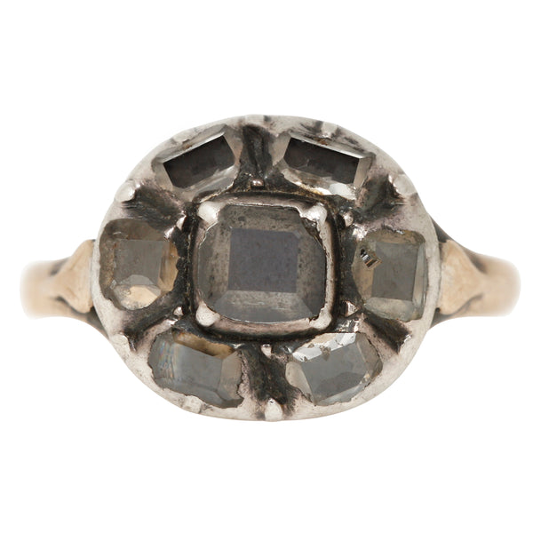 Vintage Tudor Rose Diamond Ring