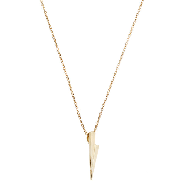 All Yellow Gold Razor Necklace