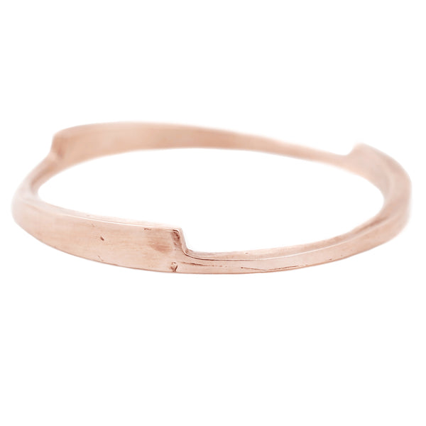 Rose Gold Razor Stack Ring