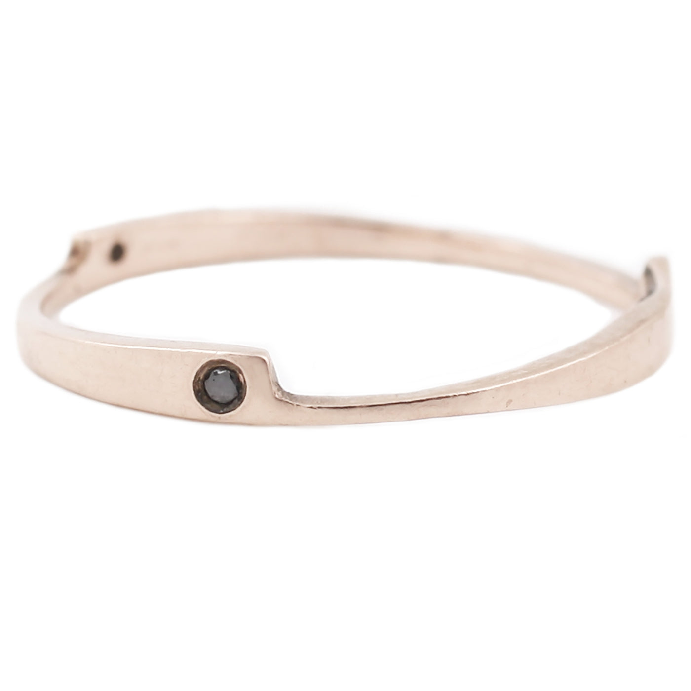 Rose Gold Razor Black Diamond Ring