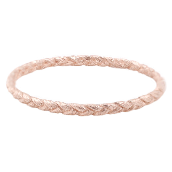Small Rose Gold Braid Ring