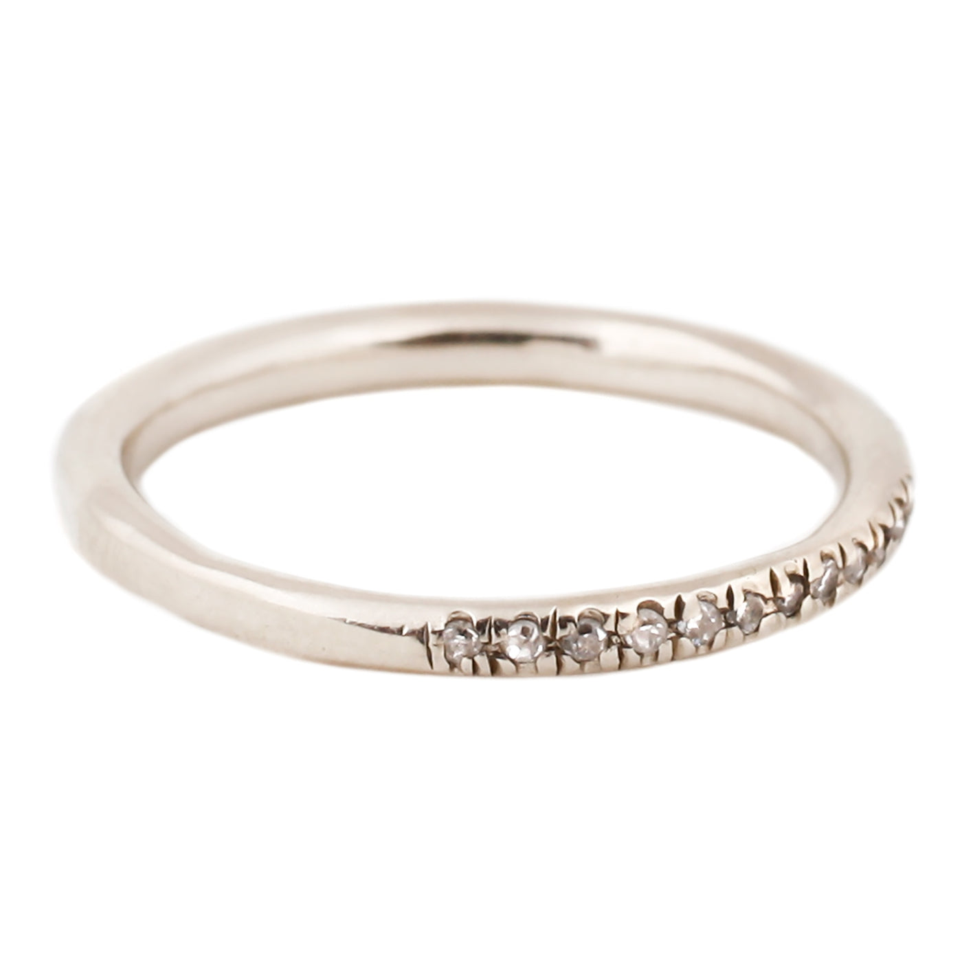 Lauren Wolf White Diamond Half Eternity Band White Gold
