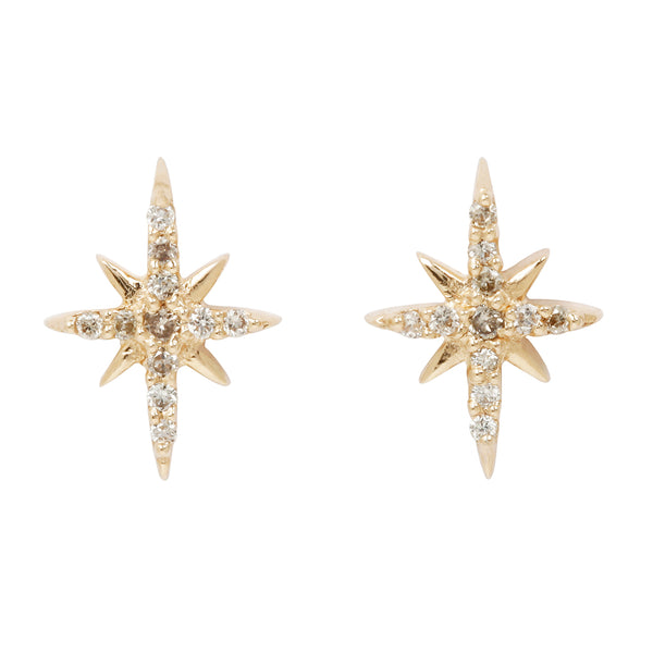 Celine D'Aoust Diamond North Star Studs