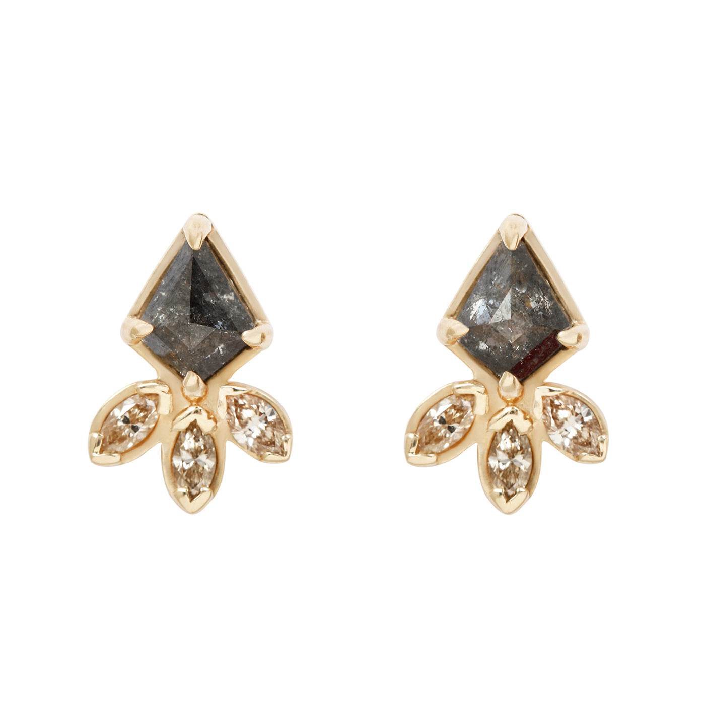 Lauren Wolf Marquise Kite Diamond Earrings