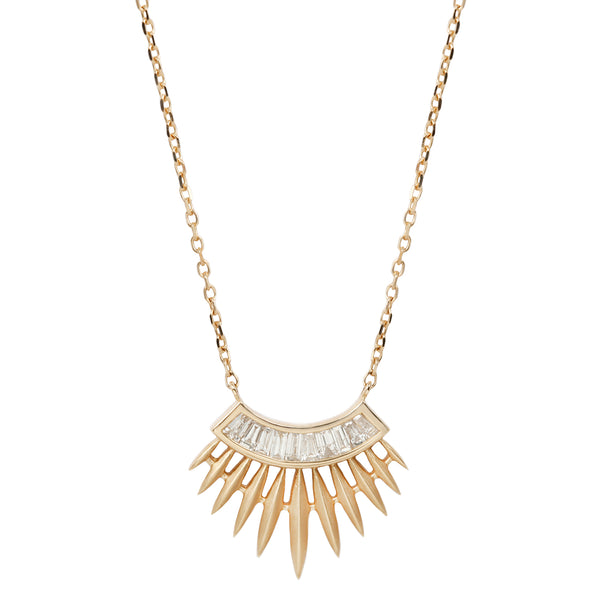 Celine D'Aoust Rising Sun Diamond Necklace