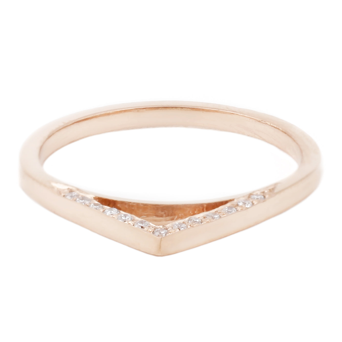 Rose Gold Diamond Peak Ring