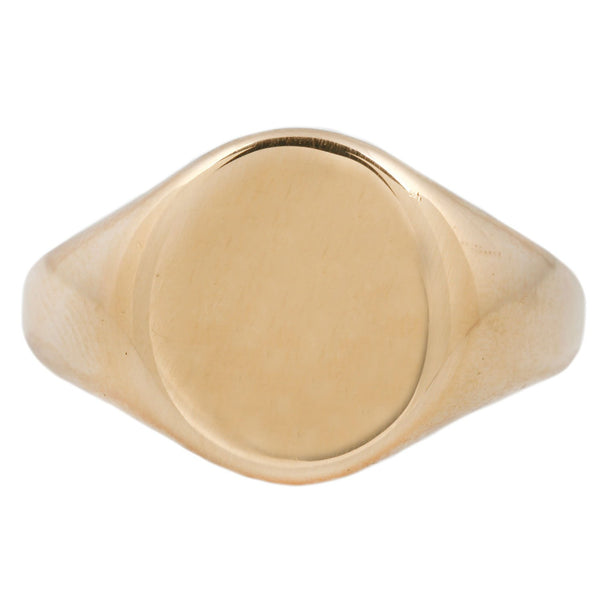 Vintage Smooth Oval Signet Ring