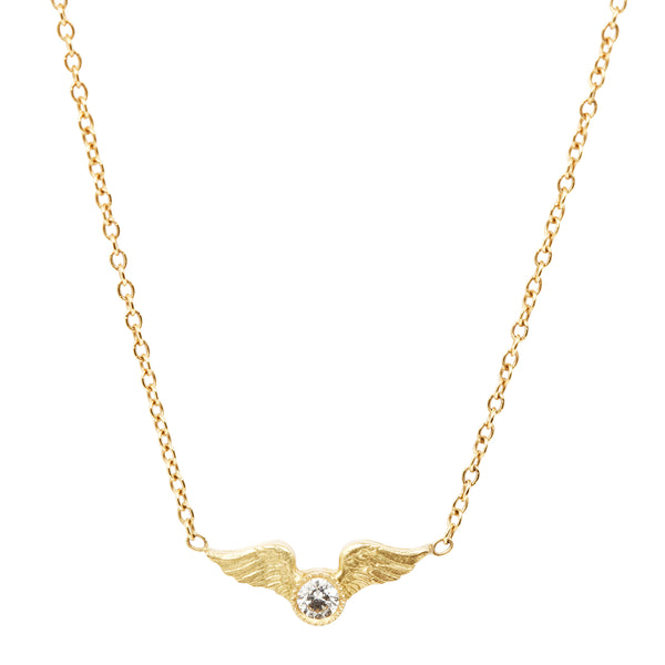 Anthony Lent Tiny Winged Victory Necklace